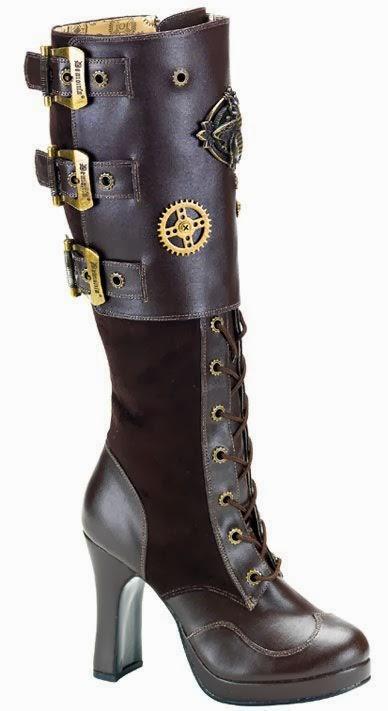 Goth Gothic Fashion Shoes Boots Steampunk