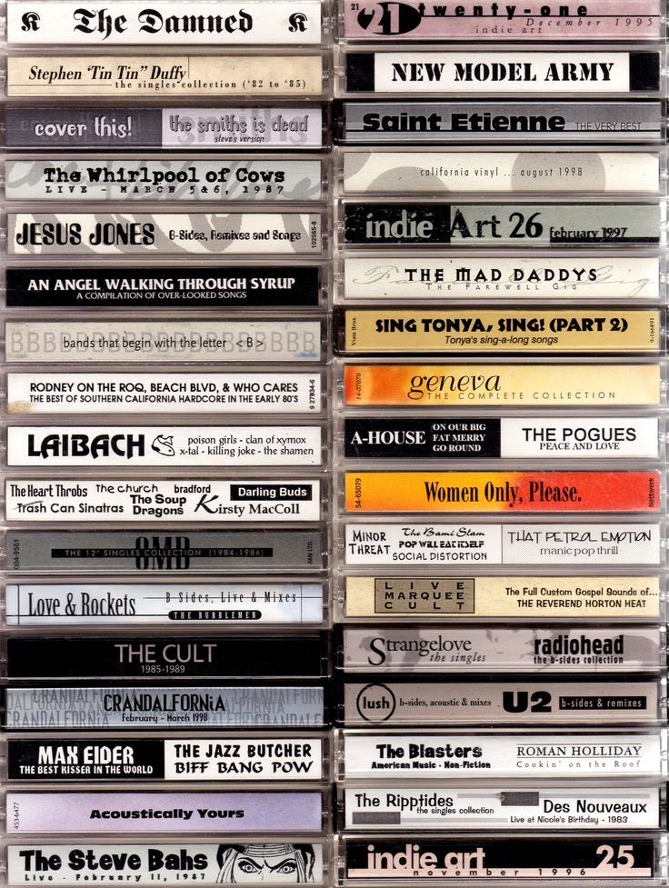 The Lost Art of Cassette Design by Steve Vistaunet en LasMilVidas