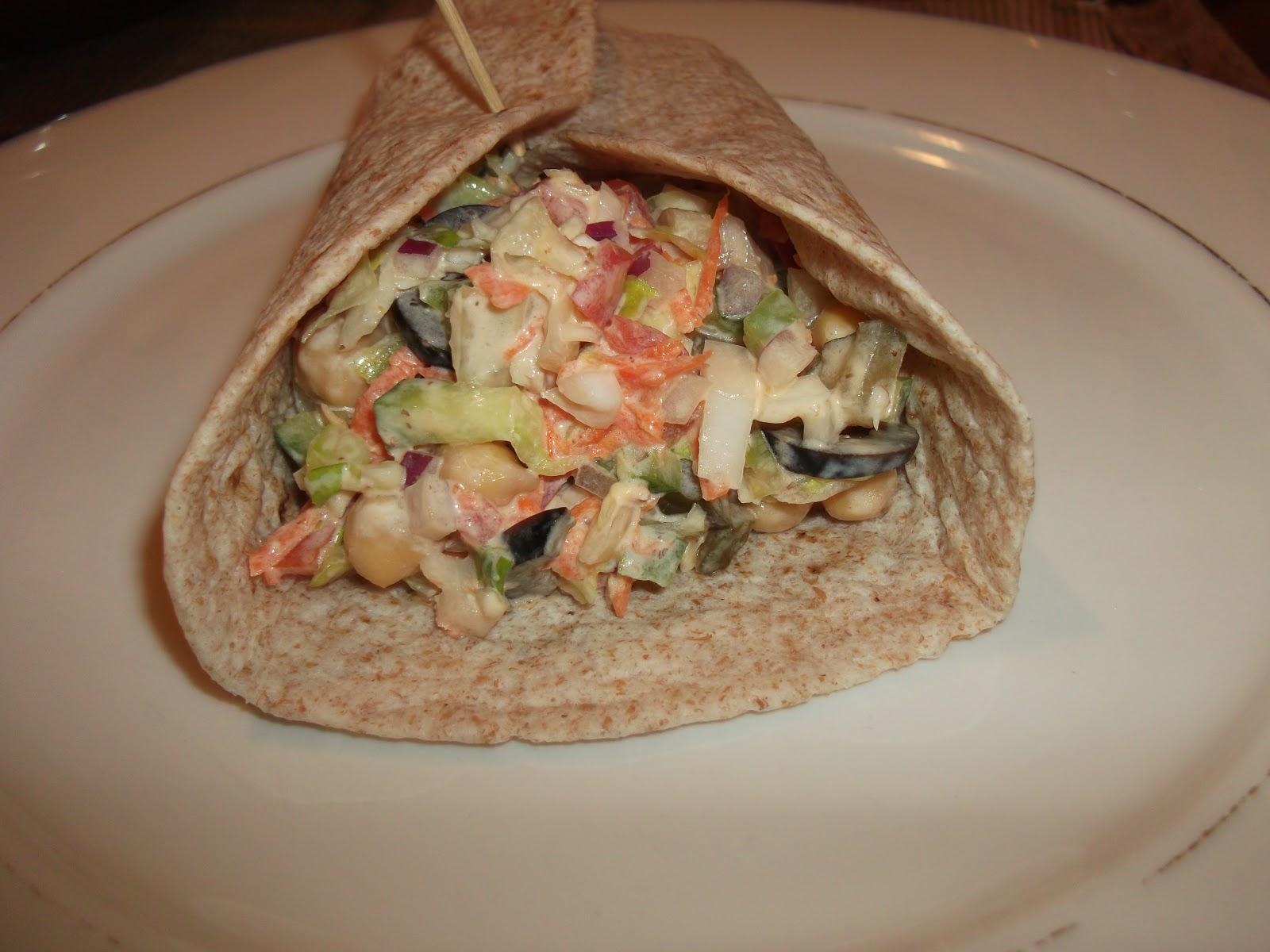 Garden Vegetable Wraps Recipe — Dishmaps