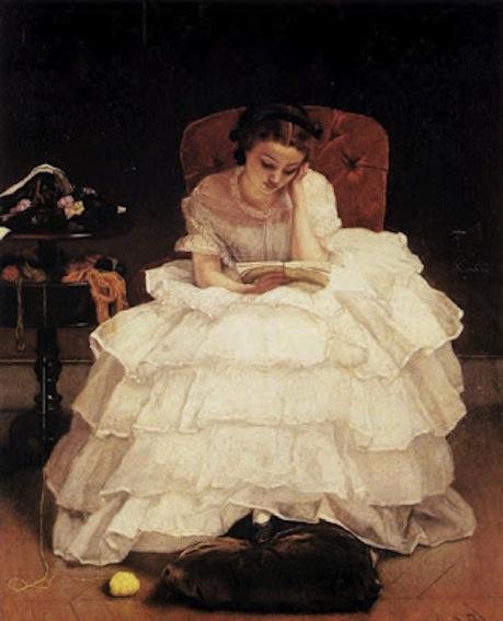 Alfred Stevens. Girl Reading, 1856