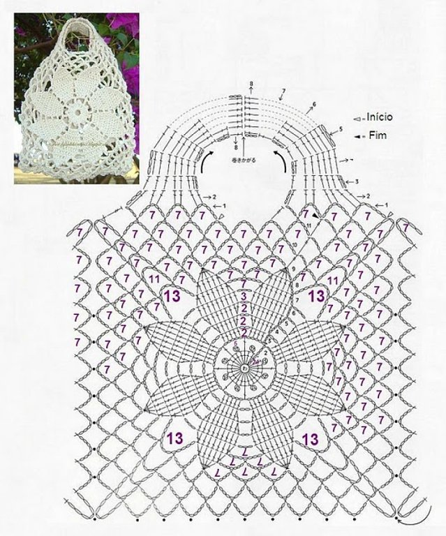 Todo gráficos: Patrones / gráficos bolsos a ganchillo o crochet.