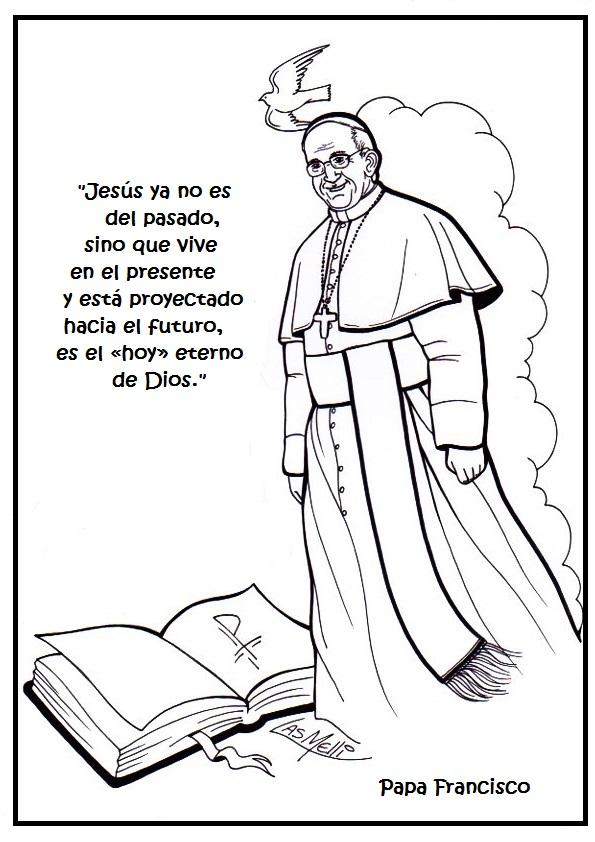La Catequesis (El blog de Sandra): Colorea el mensaje del Papa Francisco