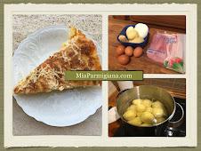 Вкуснейшая итальянская запеканки из картофеля и ветчины