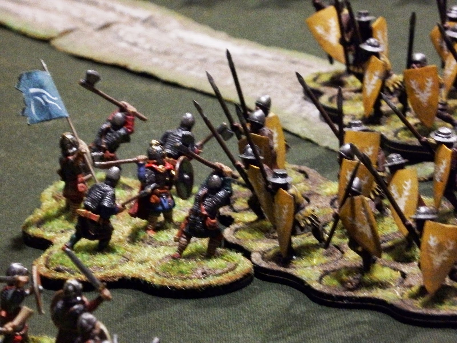 lion's rampant melee 28mm dark age saxon