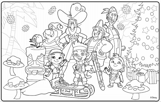 disney junior coloring pages christmas - photo#12