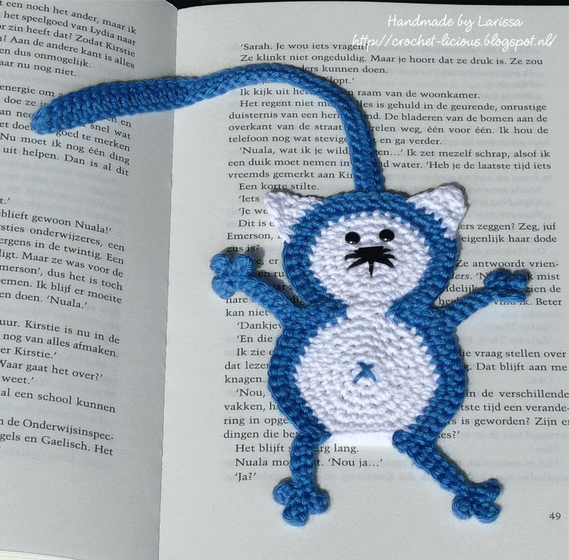 Crochet Licious Katten Boekenleggers