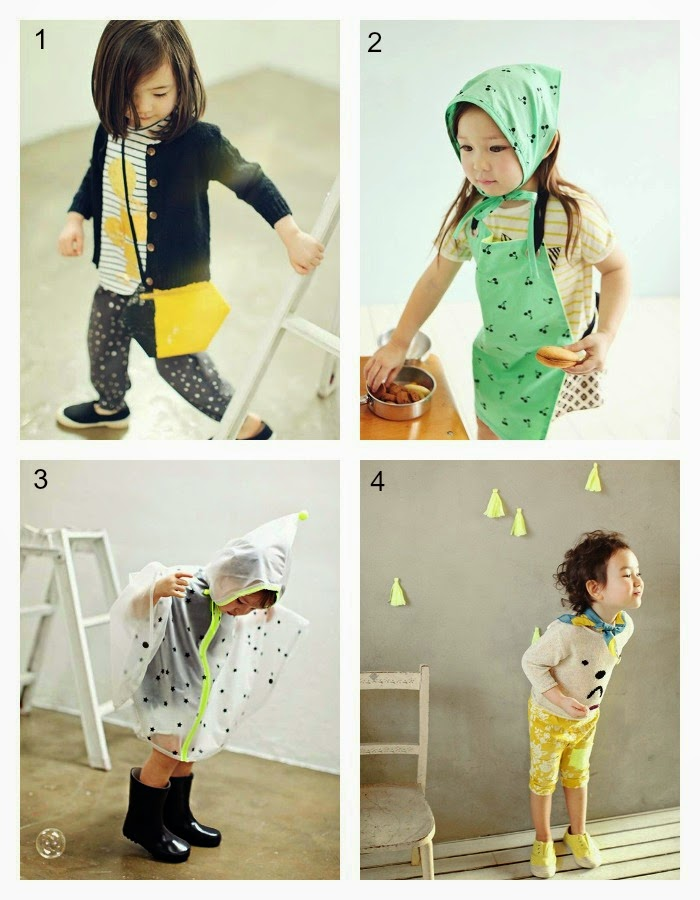 1: Bien A Bien 2: Ae-hem 3: Bien A Bien 4: Amber - Jujubunnyshop spring 2014 kids fashion collection