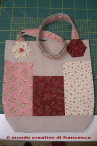 Sal borsa portalavoro con fiore origami