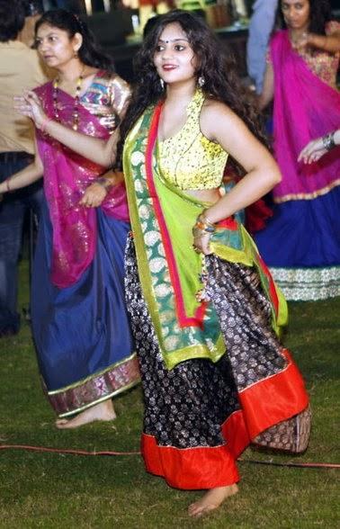 Gujarati Girl Playing Garba