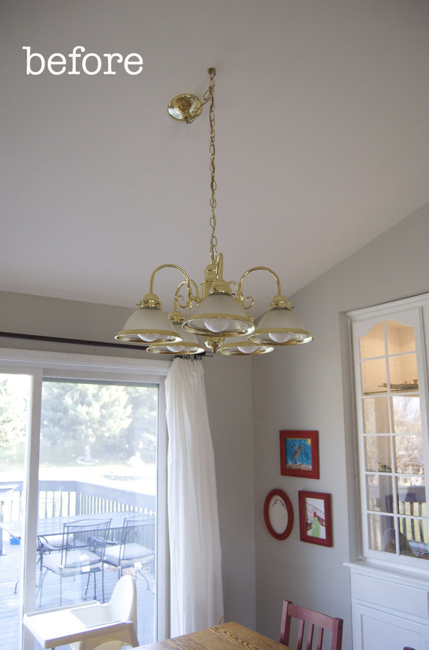 Who doesnt love a good chandelier makeover matsutake there is absolutely nothing on the whole internet that is more irresistible to me than a good before and after chandelier makeover arubaitofo Images