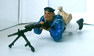 Морской пехотинец пулемётчик