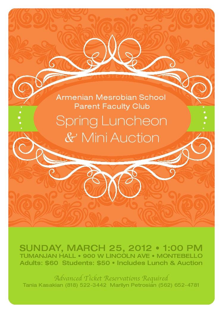 appreciation luncheon flyer