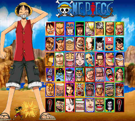 one+piece+colloseum+player+select
