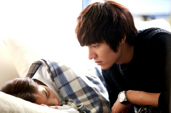 Lee min ho and park min young on city hunter