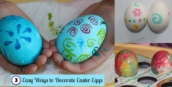 Decorate Easter Eggs with kids