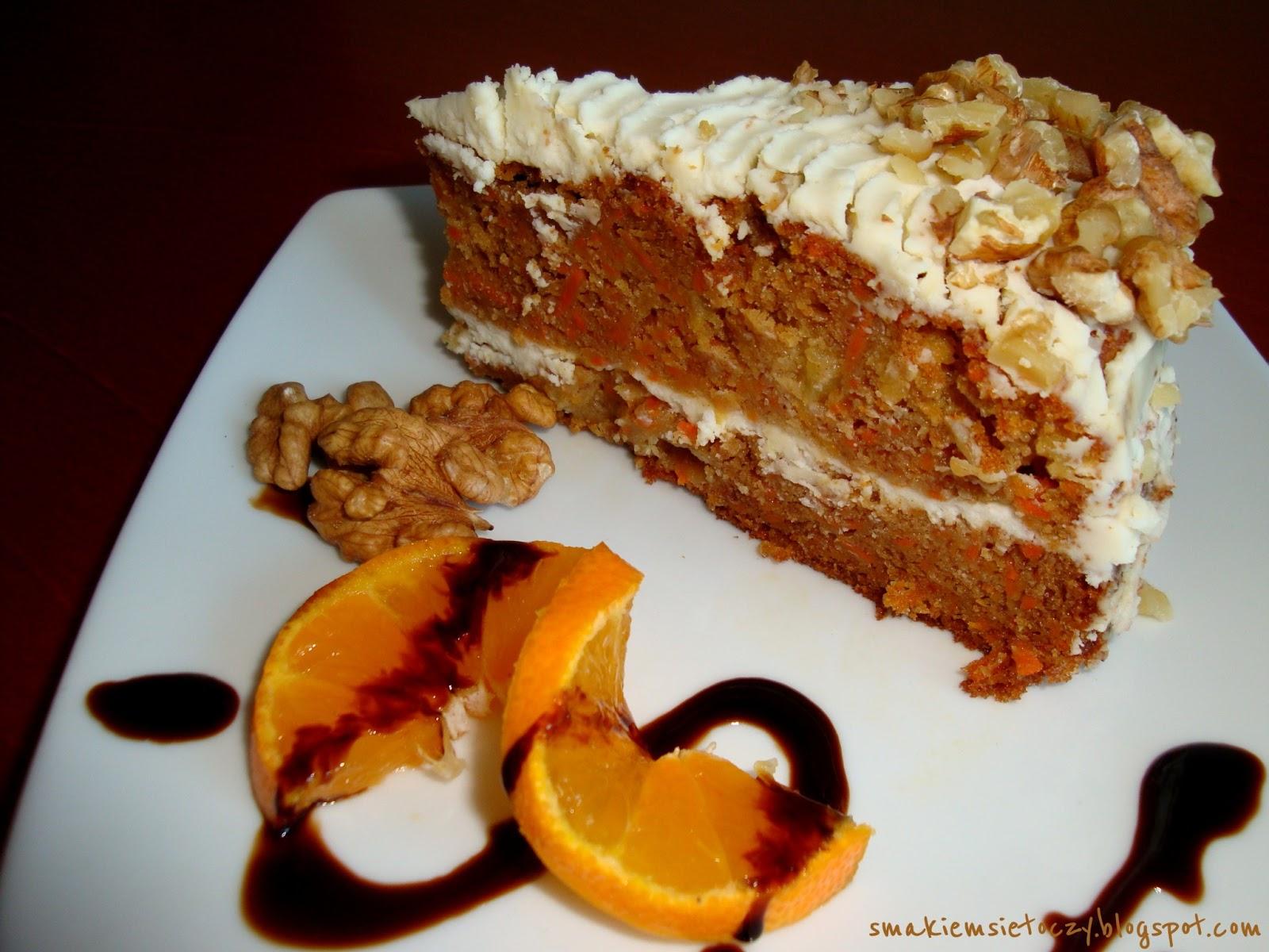 Zycie Smakiem Sie Toczy Ciasto Marchewkowe Z Cytrynowym Kremem