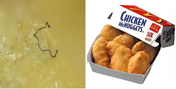Nojo: Encontradas misteriosas formas e fibras semelhantes a PÊLOS no Chicken McNuggets do McDonalds