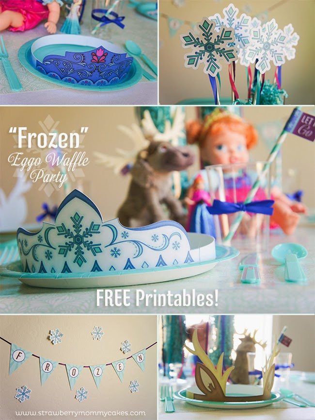 Frozen: Free Printable Kit with Masks, Tiaras and more.