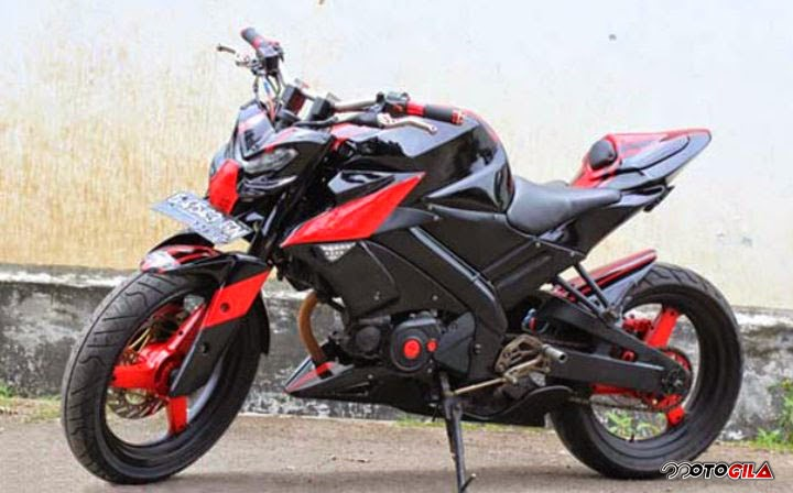 MOdifikasi Motor Vixion ala Street Fighter