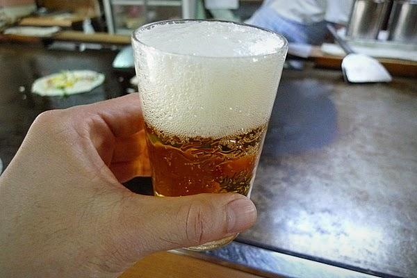 お好み焼きにはやはりビール