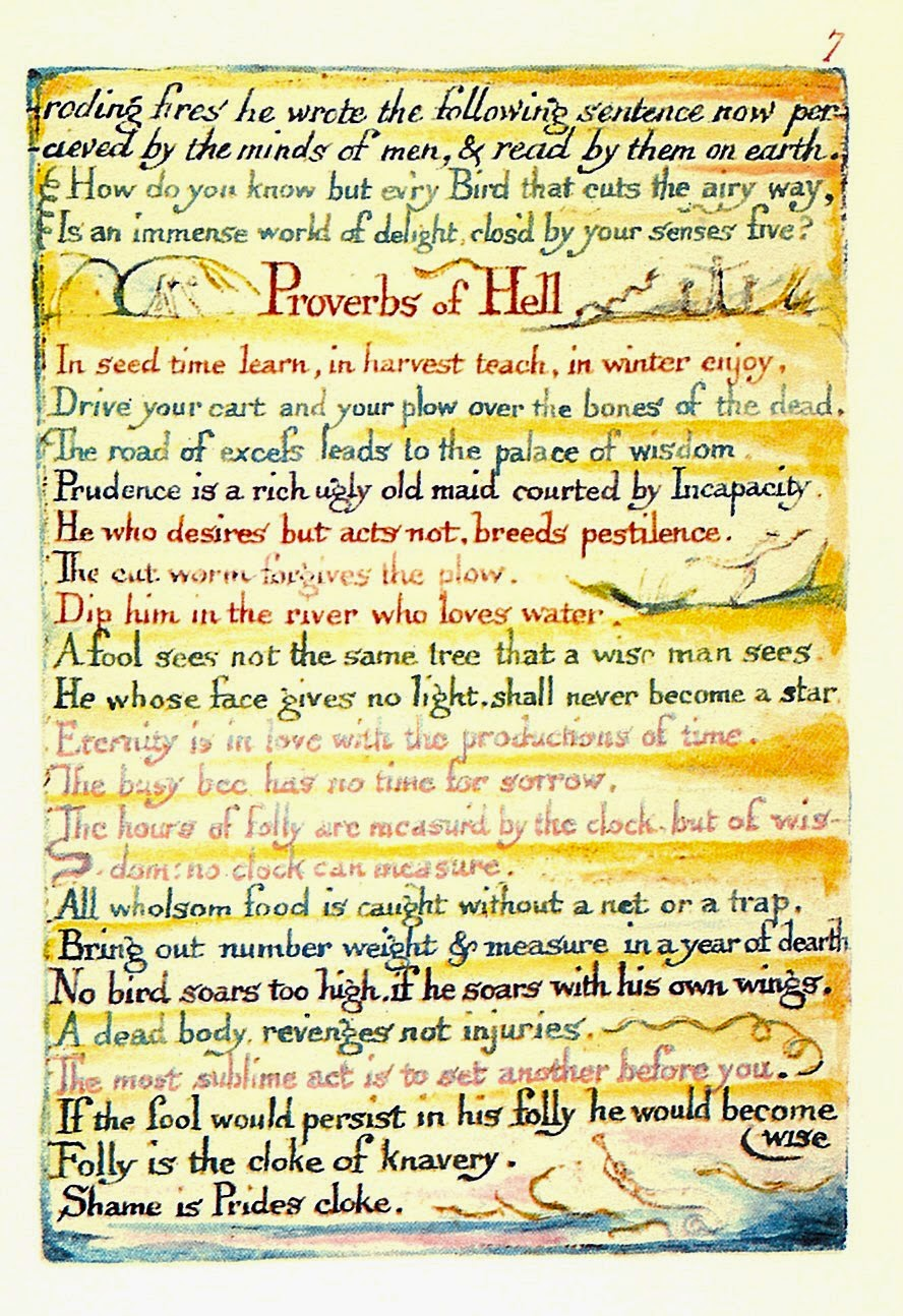 Proverbs of hell essay