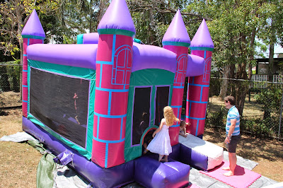 www.familyhomeblog.blogspot.com - Miss O's First Birthday Party - Brisbane Jumping Castles