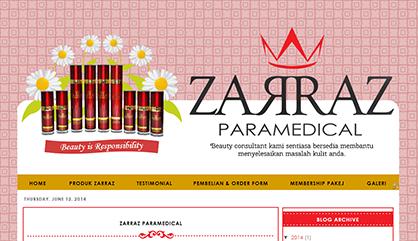 Tempahan edit blog - Zarraz Paramedical dan Sabah Kolagen Asli