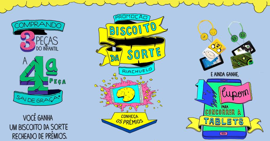 """Promoção - """"BISCOITO DA SORTE RIACHUELO"""""""