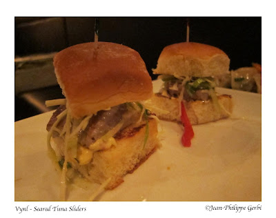 Image of Seared tuna sliders at Vynl in Hell's Kitchen NYC, New York