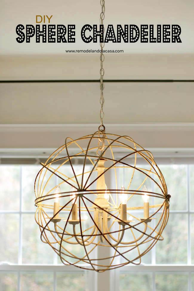 Sphere chandelier for the dining room remodelando la casa metal sphere small chandelier orbs light dining room aloadofball Images