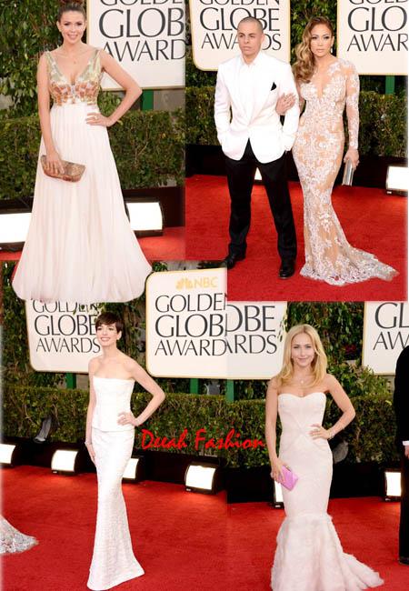Gaun Putih Golden Globes 2013