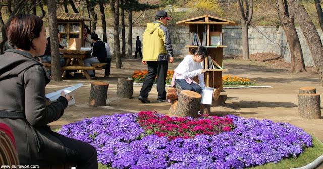 Parque con libros de acceso libre en Corea