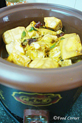 Polos Curry-Sri Lankan Baby Jackfruit Curry in slow cooker