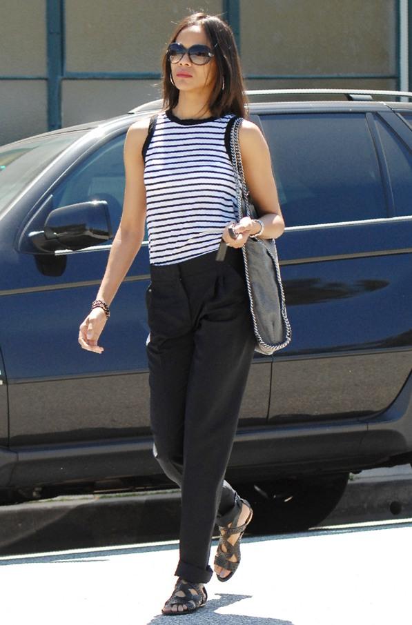 Monday Style: Zoe Saldana + Fashionista