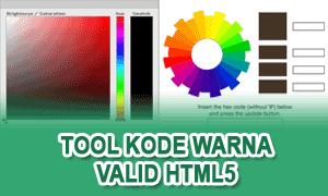 Membuat Tool Kode Warna Di Blog Valid HTML5