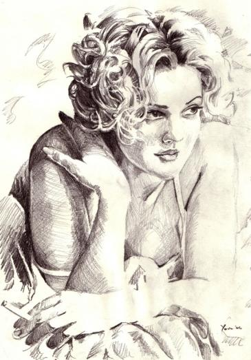 Retrato de Drew Barrymore