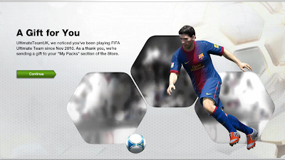 "Loyalty Gift sent to ""My Packs""  - FUT 13 Web App - FIFA 13 Ultimate Team"