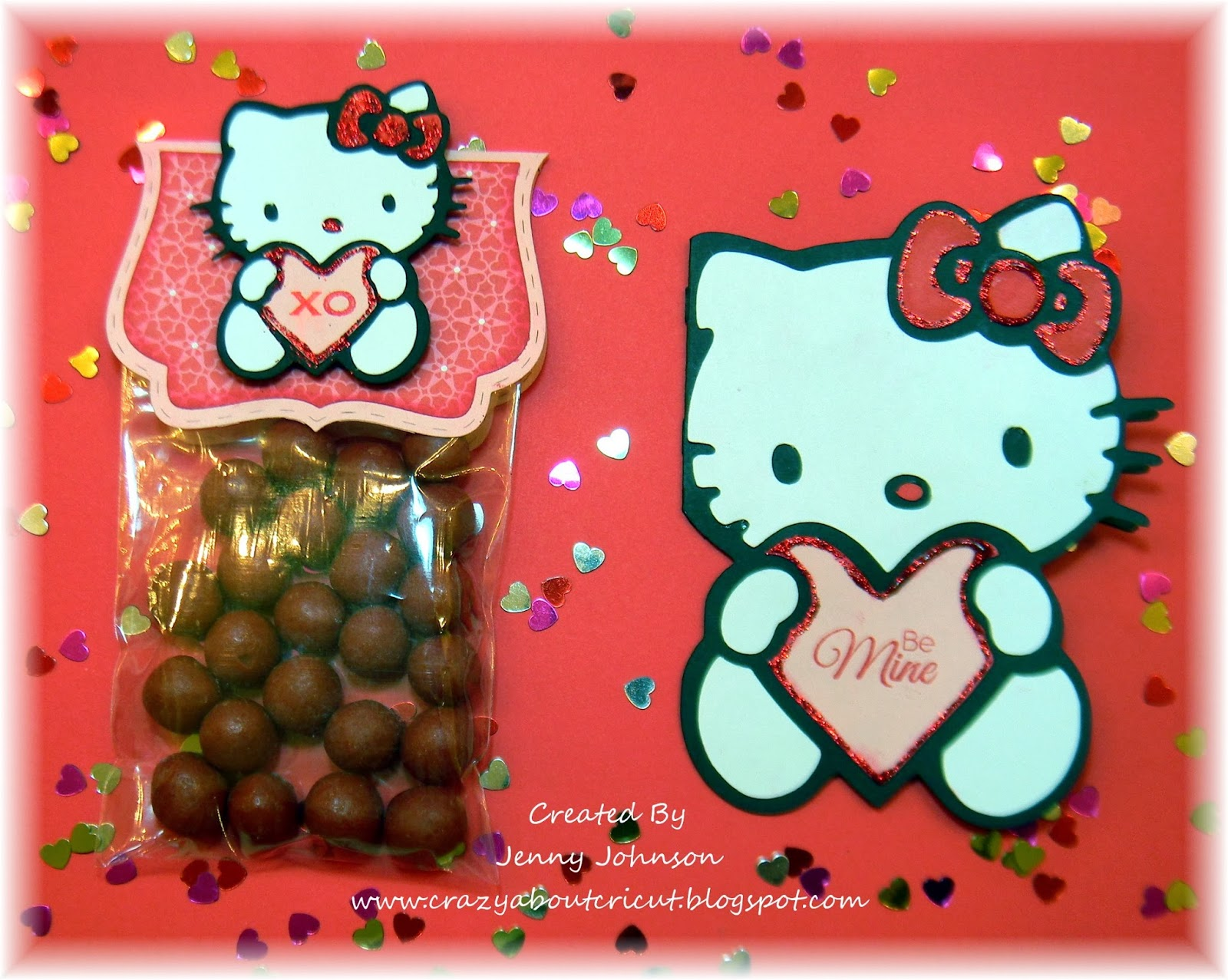 Crazy about cricut hello kitty blog hop hello kitty greetings cricut cartridge jaded blossom simple sayings valentine edition stamp set fancy topper die 3x4 inch bags ranger red stickles m4hsunfo