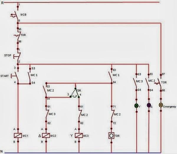 Rangkaian motor tiga fasa dengan saklar star delta otomatis infomedia diagram rangkaian kontrol arus swarovskicordoba Gallery