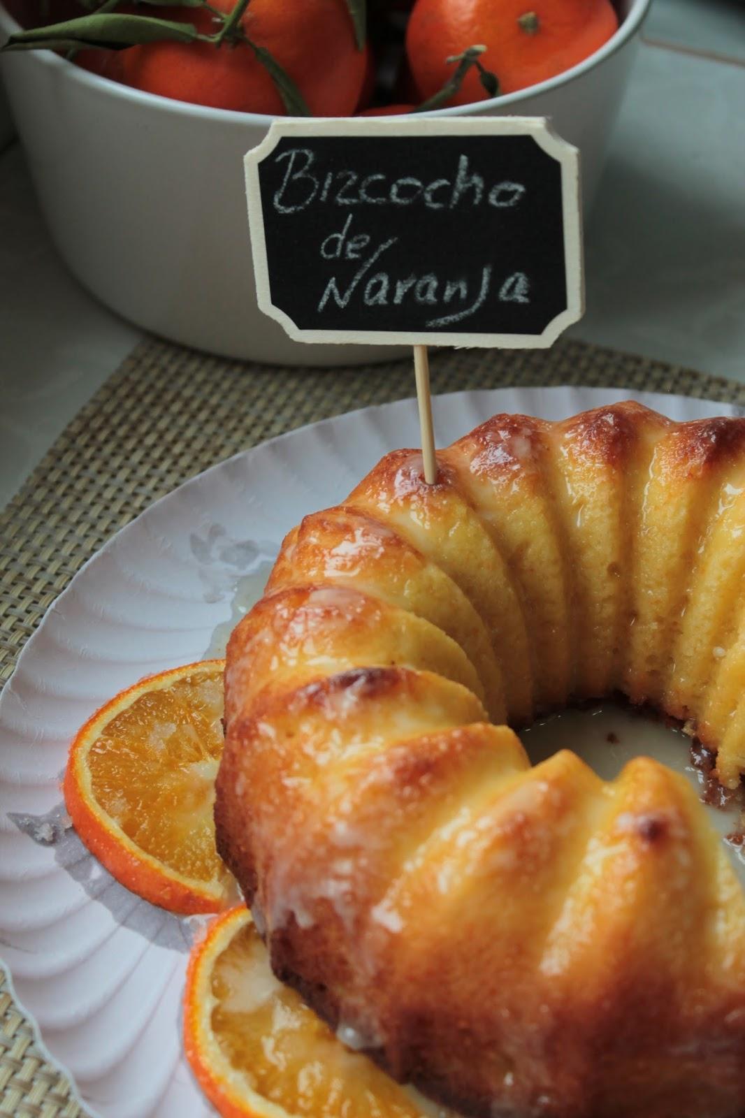 Bizcocho de naranja glaseado sin lactosa