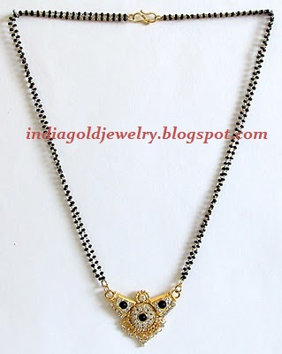 Check out black beads(nallapusalu) chain model(or Mangalsutra) with