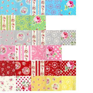 Lecien FLOWER SUGAR 3 Quilt Fabric