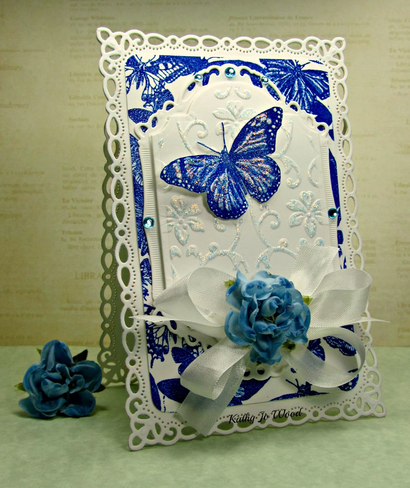 chapel road artstamps, spellbinders, labels twenty eight, decorative, romantic rectangles, crafts too, butterfly, card,