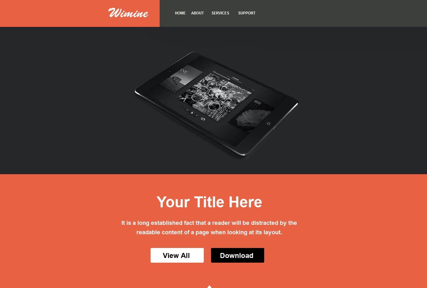Wimine – Responsive E-mail Template