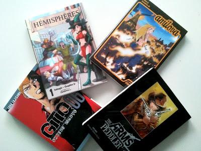 Mes prochaines lectures mangas: Amilova #1, Hemispheres#1, GTO 14 Shonan Days #6 et The Arms Peddler #3