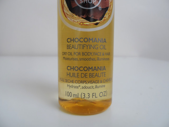 Body Shop Chocomania Beautifyng Oil