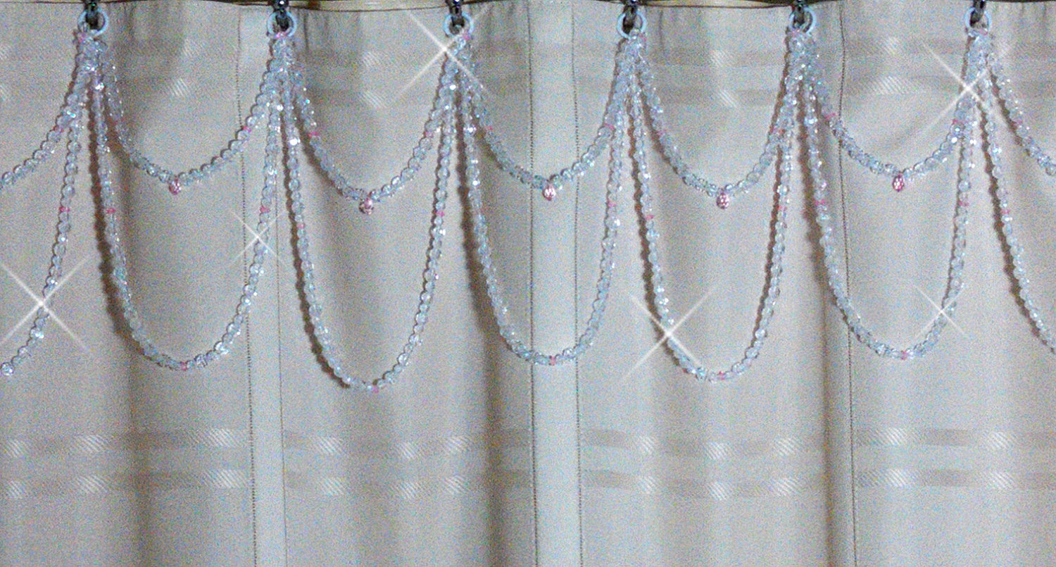 Shadez Of Michelle Shower Curtain Bling Pink And Crystal