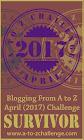 2017 A to Z Blogging Challenge Survivor