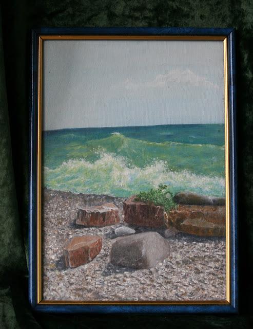 картина Виталия Бабенко Морские камни