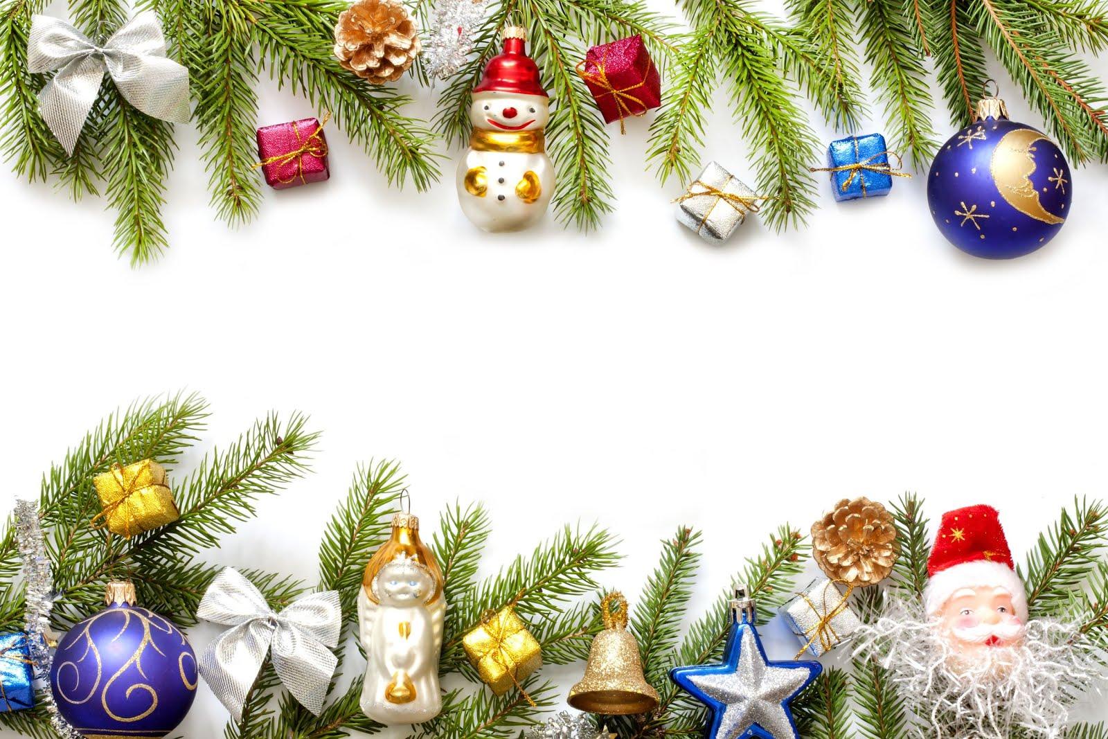 BANCO DE IMÁGENES: Marco con adornos navideños para escribir nombres ...